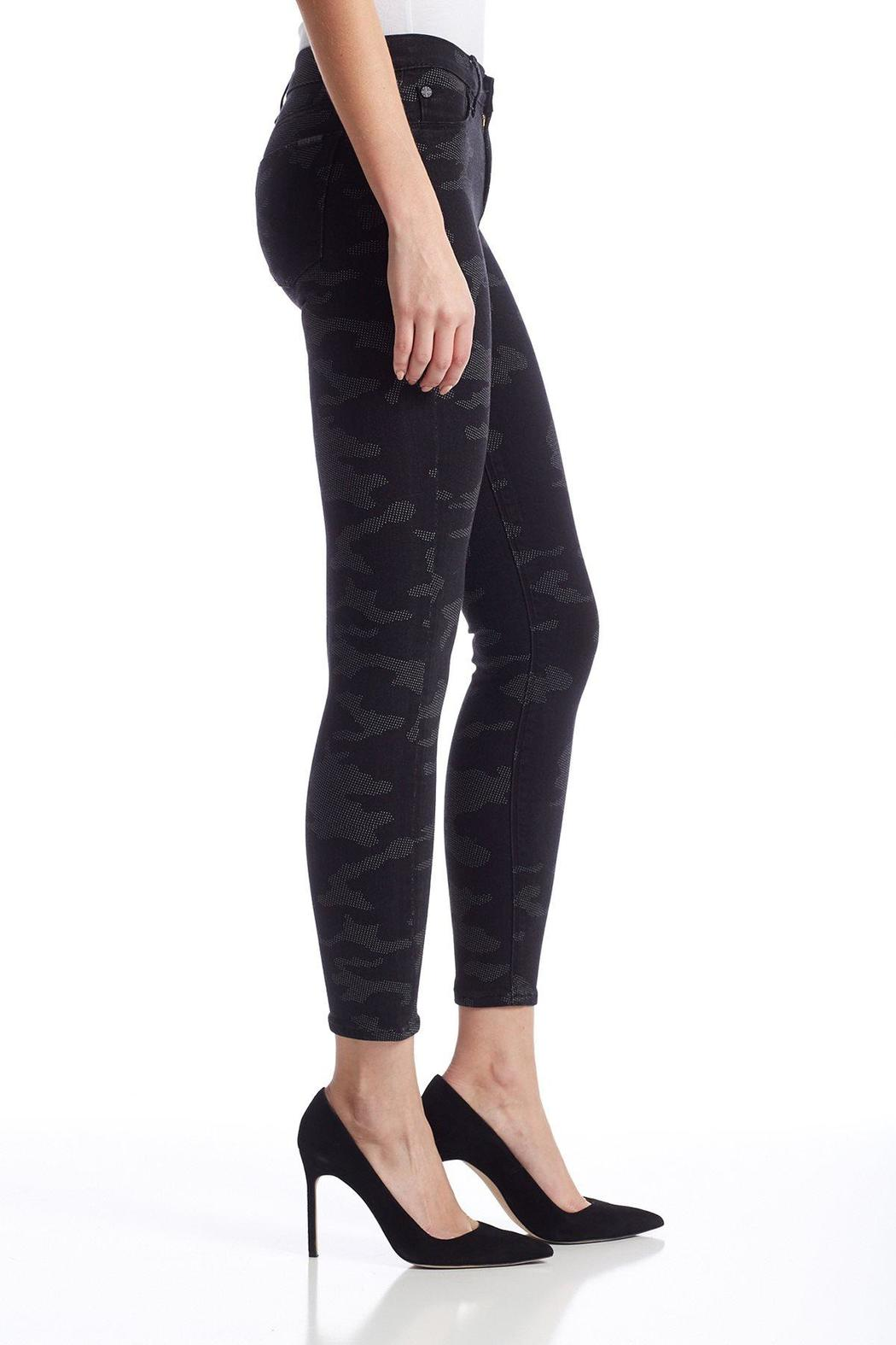 Hudson Jeans Mid Rise Black Camo Skinny - Side Cropped Image