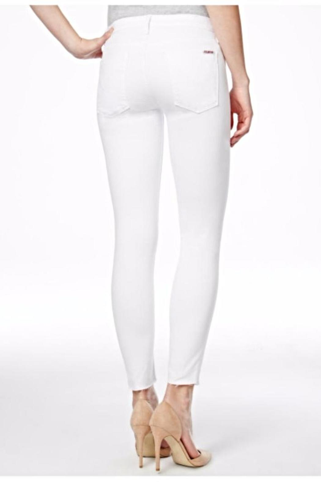 Hudson Jeans Nico Mid Rise White Jeans - Front Full Image