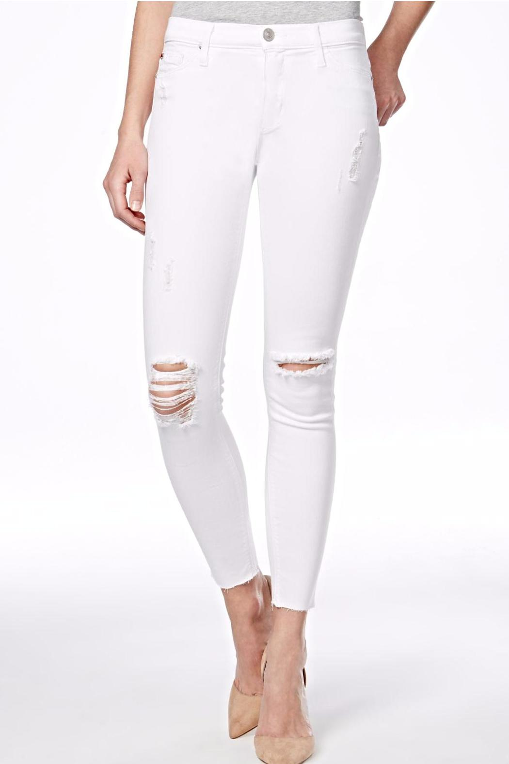 Hudson Jeans Nico Mid Rise White Jeans - Main Image