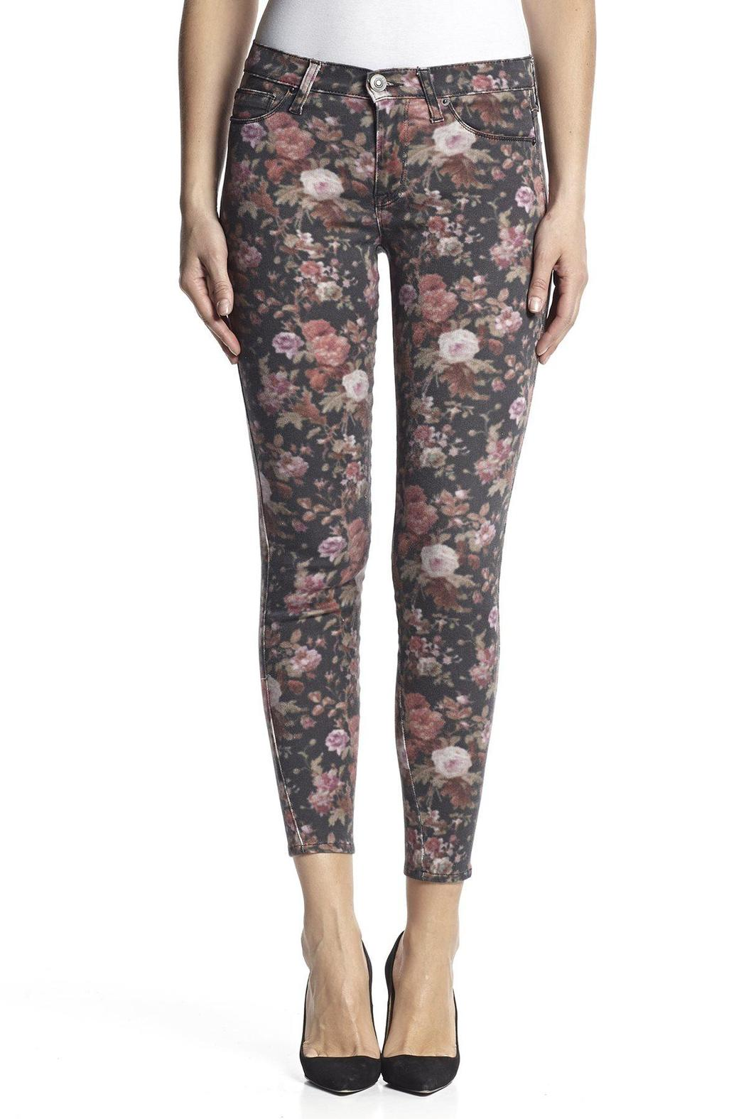 Hudson Jeans Nico Skinny Ruby-Rosebud - Front Cropped Image