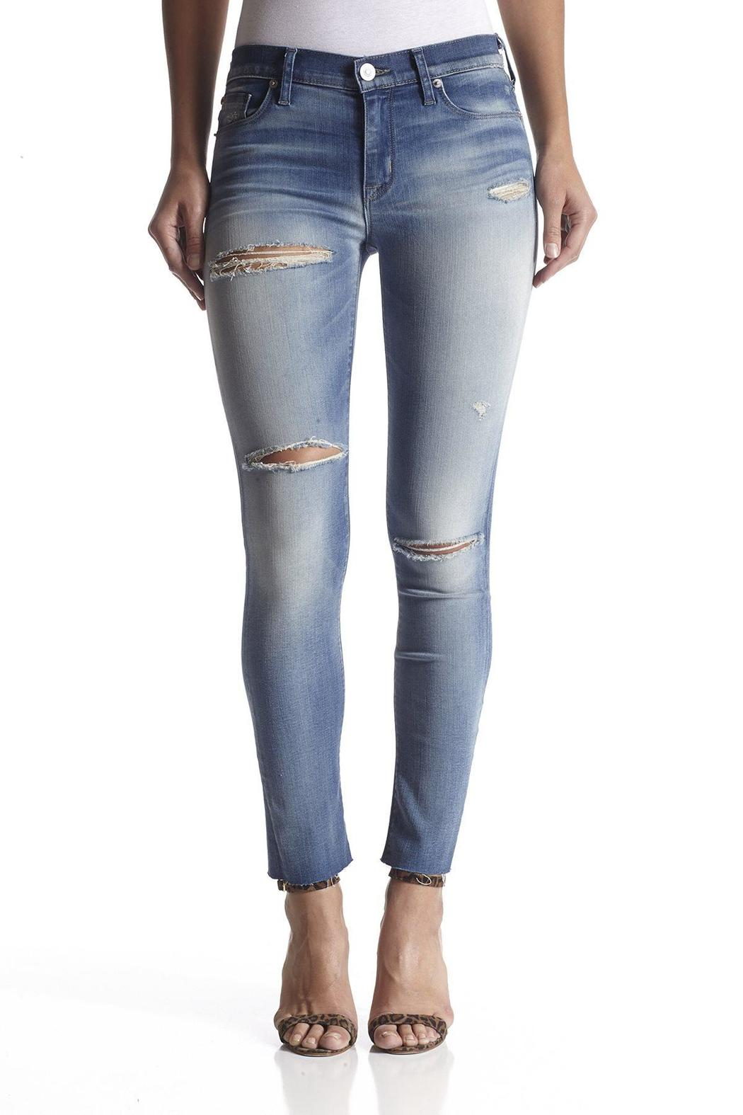 Hudson Jeans Raw-Hem Ankle Skinny - Front Cropped Image