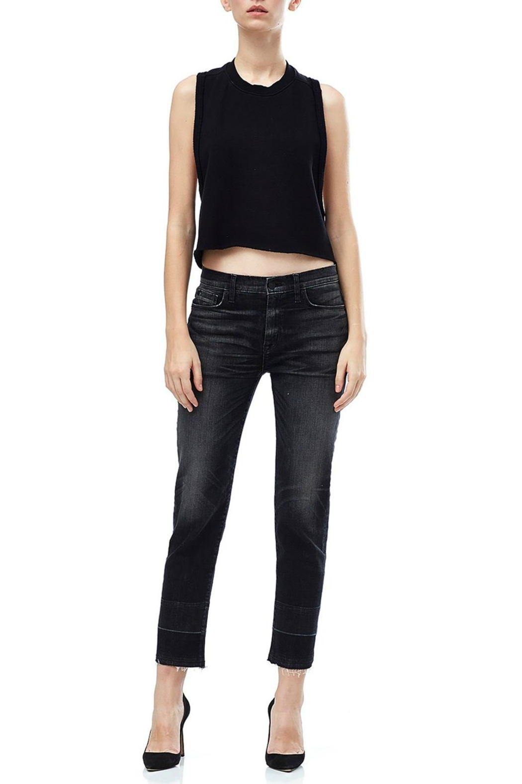 Hudson Jeans Grey Ankle Straight Jeans - Main Image