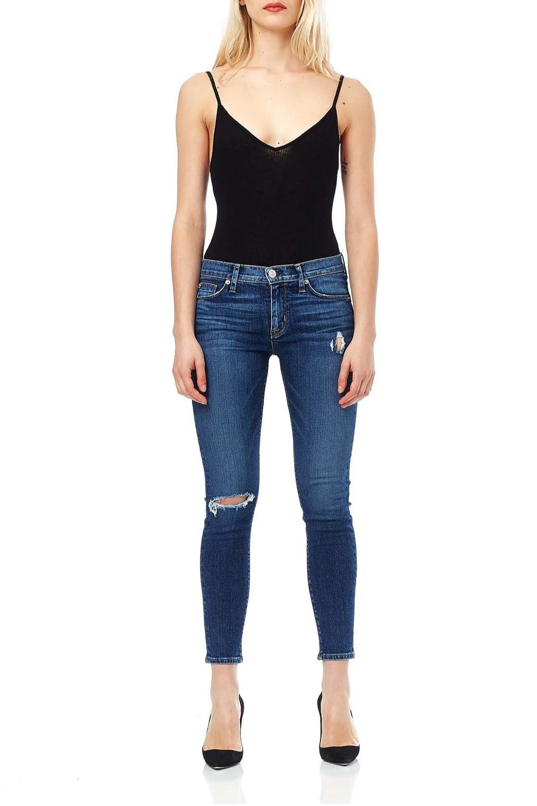 Hudson Jeans Ripped Knee Mid Jeans - Main Image