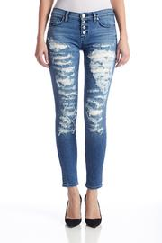 Hudson Jeans Ripped Super Skinny Jeans - Product Mini Image