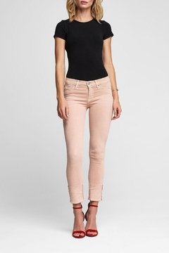 Hudson Jeans Tally Crop Worn-Rosewater - Product List Image