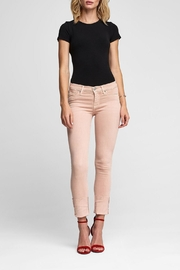 Hudson Jeans Tally Crop Worn-Rosewater - Front cropped