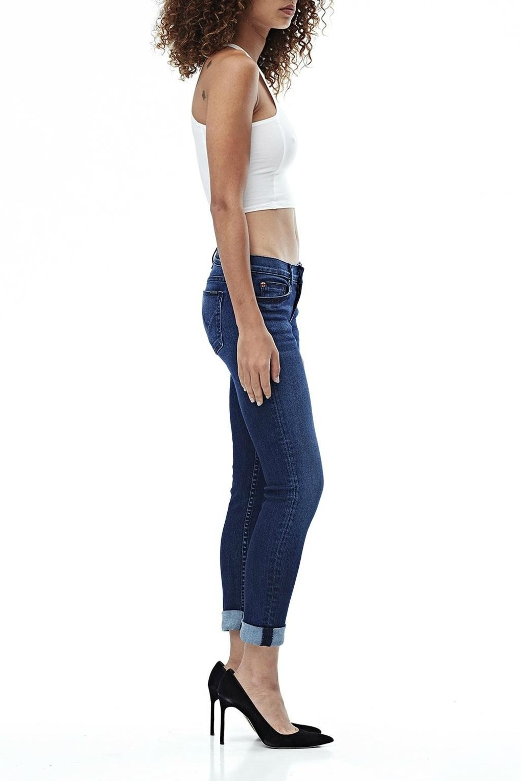 Hudson Jeans Tally Skinny Crop Jean - Side Cropped Image