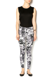 HUE Floral Print Jegging - Front full body