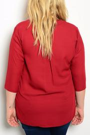 Hug+ Plus Size Wine Blouse - Front full body