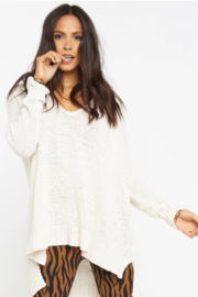 Show Me Your Mumu Hug Me Sweater White - Front cropped
