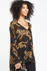 Show Me Your Mumu Hug Me Sweater Cat Prints - Front cropped