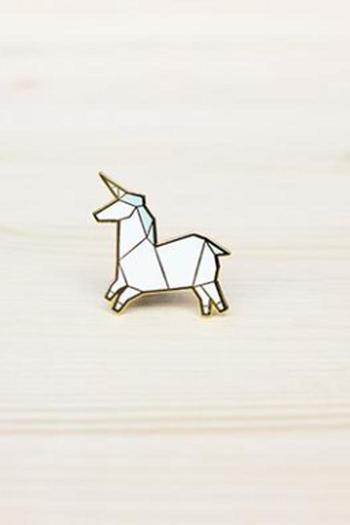 Shoptiques Product: Origami Unicorn Brooch - main