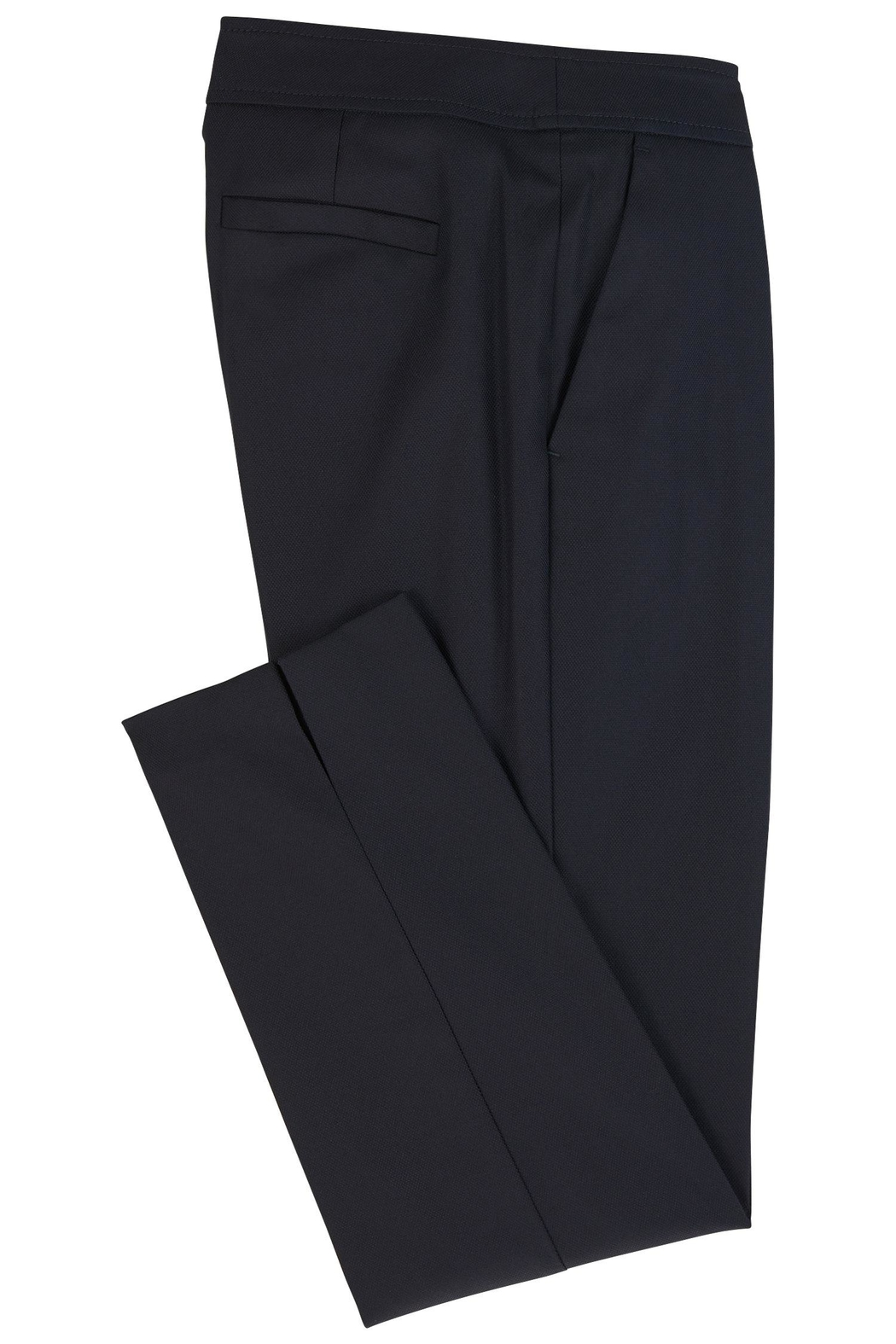 HUGO BOSS Cropped Cotton Trousers - Side Cropped Image