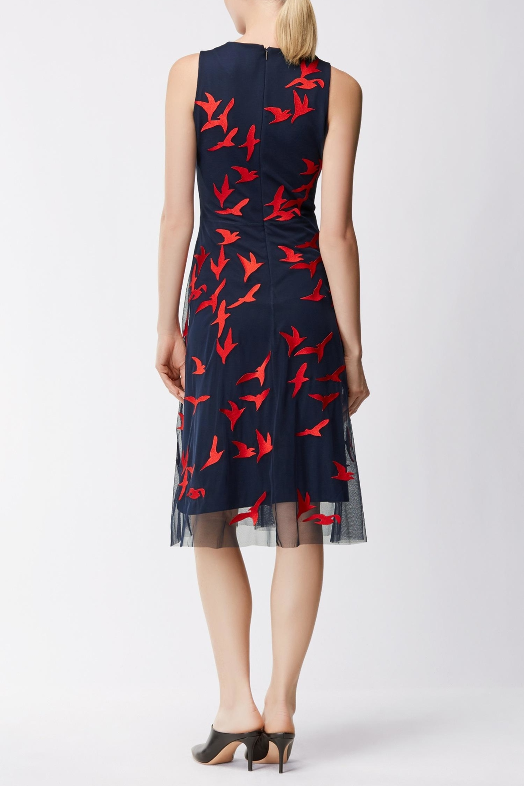 HUGO BOSS Enerva Bird Dress - Side Cropped Image