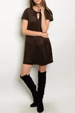 Bo Bel Brown Suede Dress - Product List Image