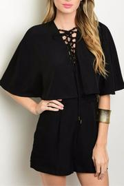 Humanity Capelet Lace-Up Romper - Product Mini Image