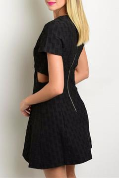 Shoptiques Product: Cut-Out Textured Dress