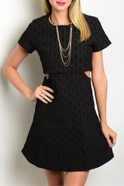 Humanity Cut-Out Textured Dress - Product Mini Image