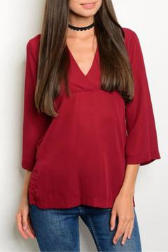 Shoptiques Product: Deep Red Top