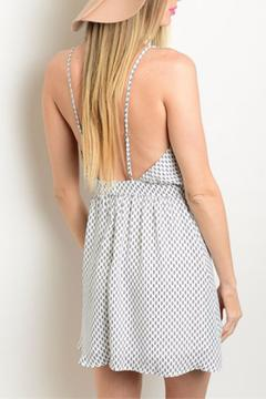 Shoptiques Product: Embroidered Low-Back Dress