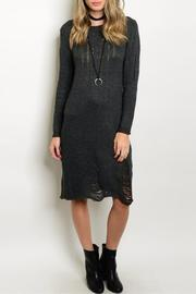 S-Twelve Gray Sweater Dress - Front cropped