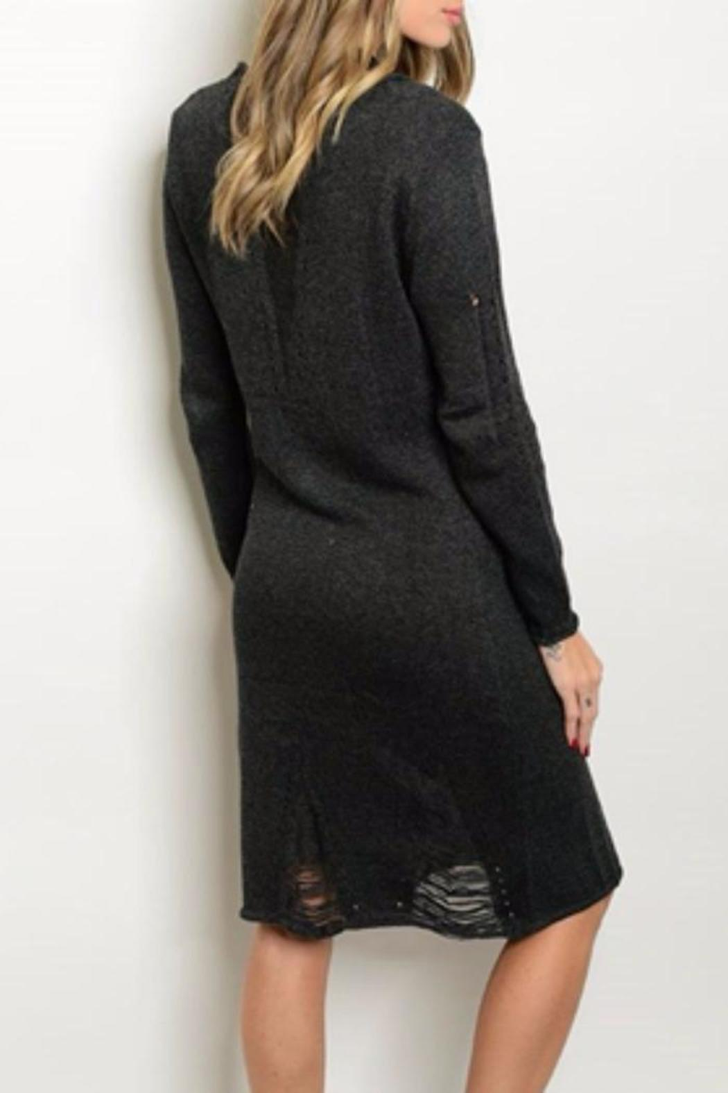 S-Twelve Gray Sweater Dress - Front Full Image