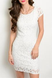 I Love Lace X-Back Dress - Front cropped