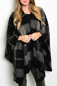 Shoptiques Product: Plaid Blanket Poncho