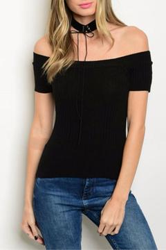 Shoptiques Product: Ribbed Off Shoulder Top