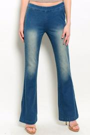 Humanity Slit Side Flare Jeans - Product Mini Image