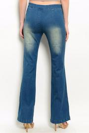 Humanity Slit Side Flare Jeans - Front full body