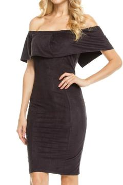 Shoptiques Product: Faux Suede Off Shoulder Dress