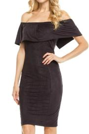 Humanity Faux Suede Off Shoulder Dress - Product Mini Image