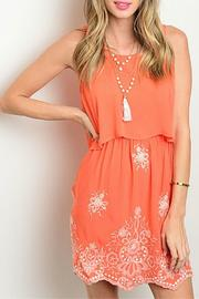 Dulce Carola Tangerine Tiered Dress - Product Mini Image