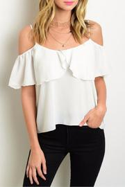 Humanity White Off-Shoulder Top - Product Mini Image