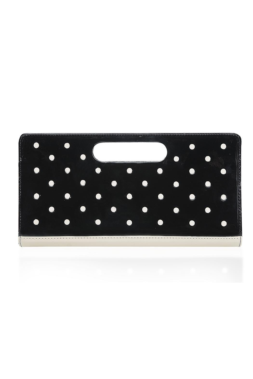 HUMAWACA Dot Leather Clutch - Front Cropped Image