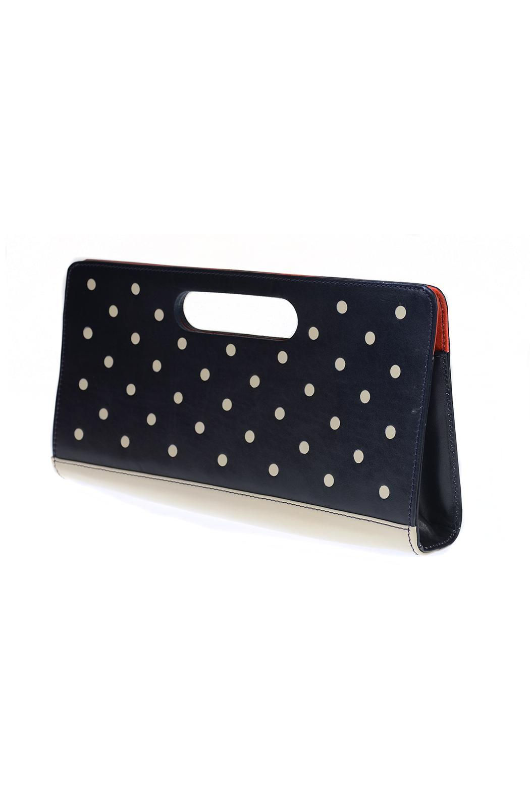 HUMAWACA Dot Leather Clutch - Front Full Image