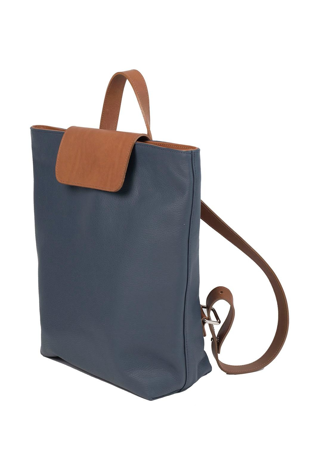 HUMAWACA Leather Trendy Backpack - Front Full Image