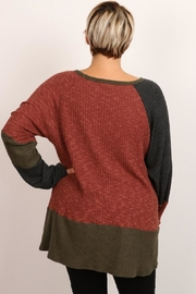 hummingbird Color Block Top - Front full body