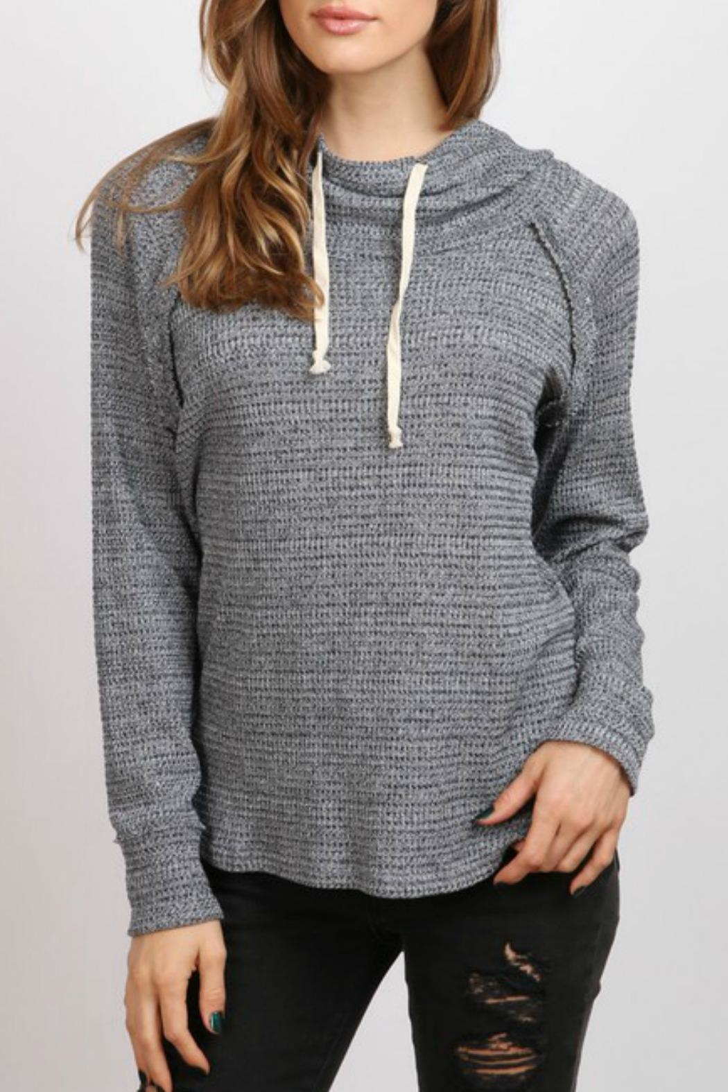 hummingbird Cowl Neck Hoodie - Front Cropped Image
