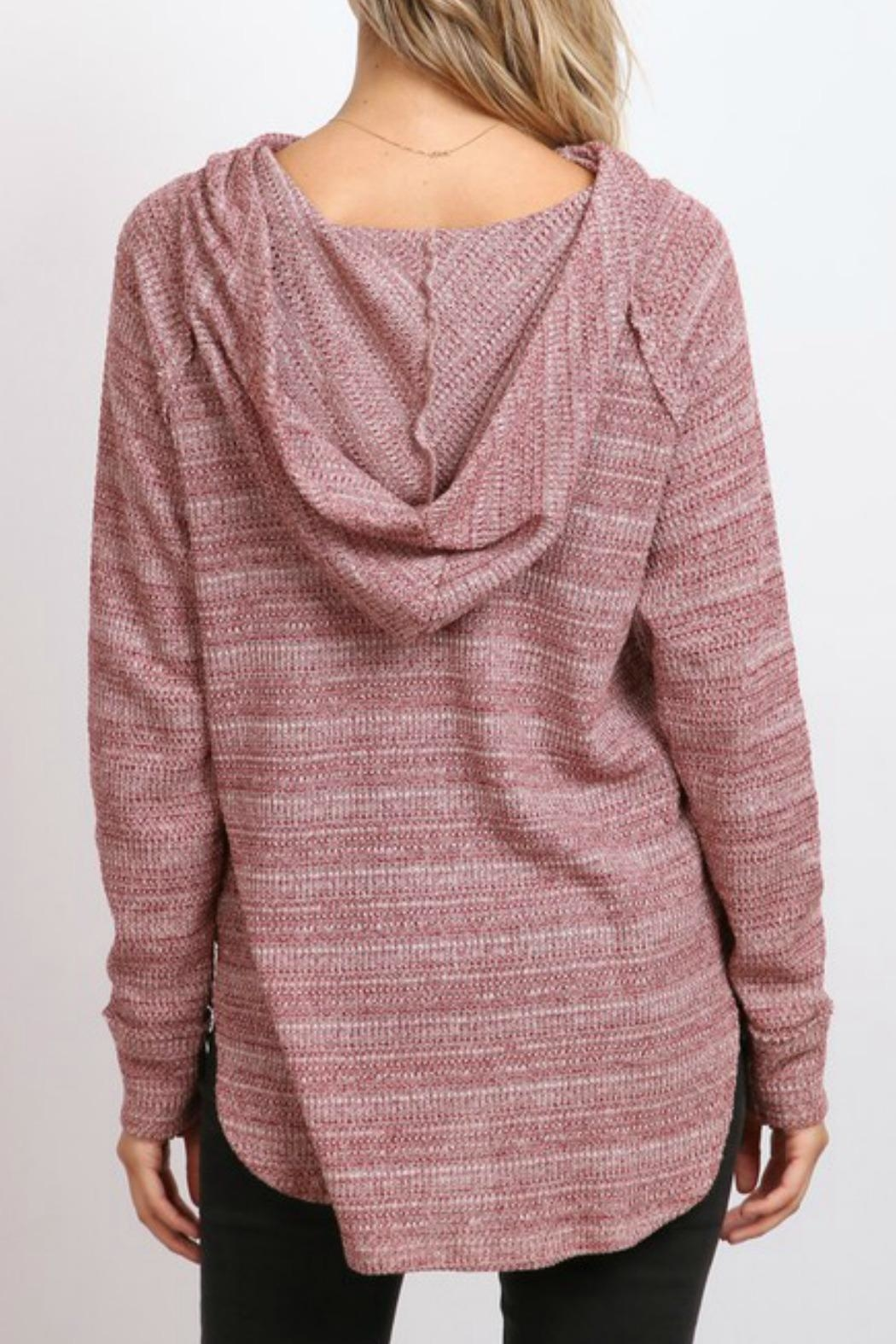 hummingbird Cowl Neck Hoodie - Side Cropped Image