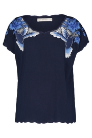 Sugarhill Boutique Hummingbird Cutwork Top - Front cropped