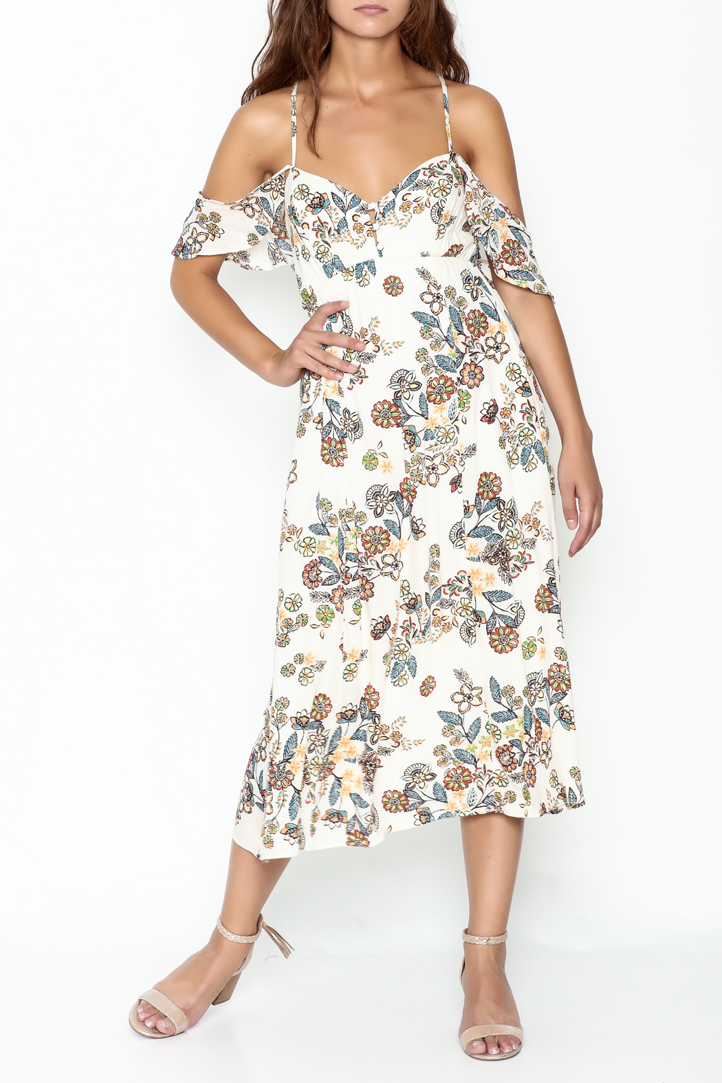 hummingbird Floral Dress - Main Image