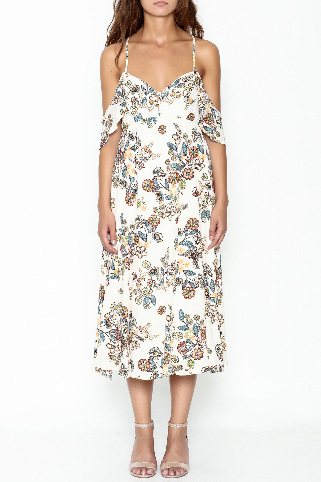 hummingbird Floral Dress - Front Full Image