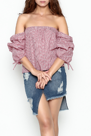 hummingbird Gingham Top - Side cropped