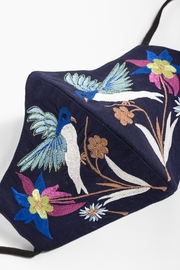 Saachi Hummingbird Hand Embroidered Face Mask - Front full body