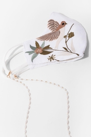 Saachi Hummingbird Hand Embroidered Face Mask - Front cropped