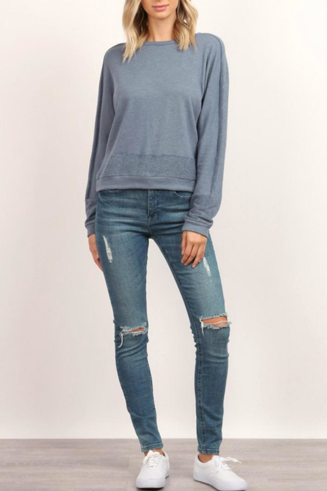hummingbird Long-Sleeve Pullover Sweatshirt - Side Cropped Image