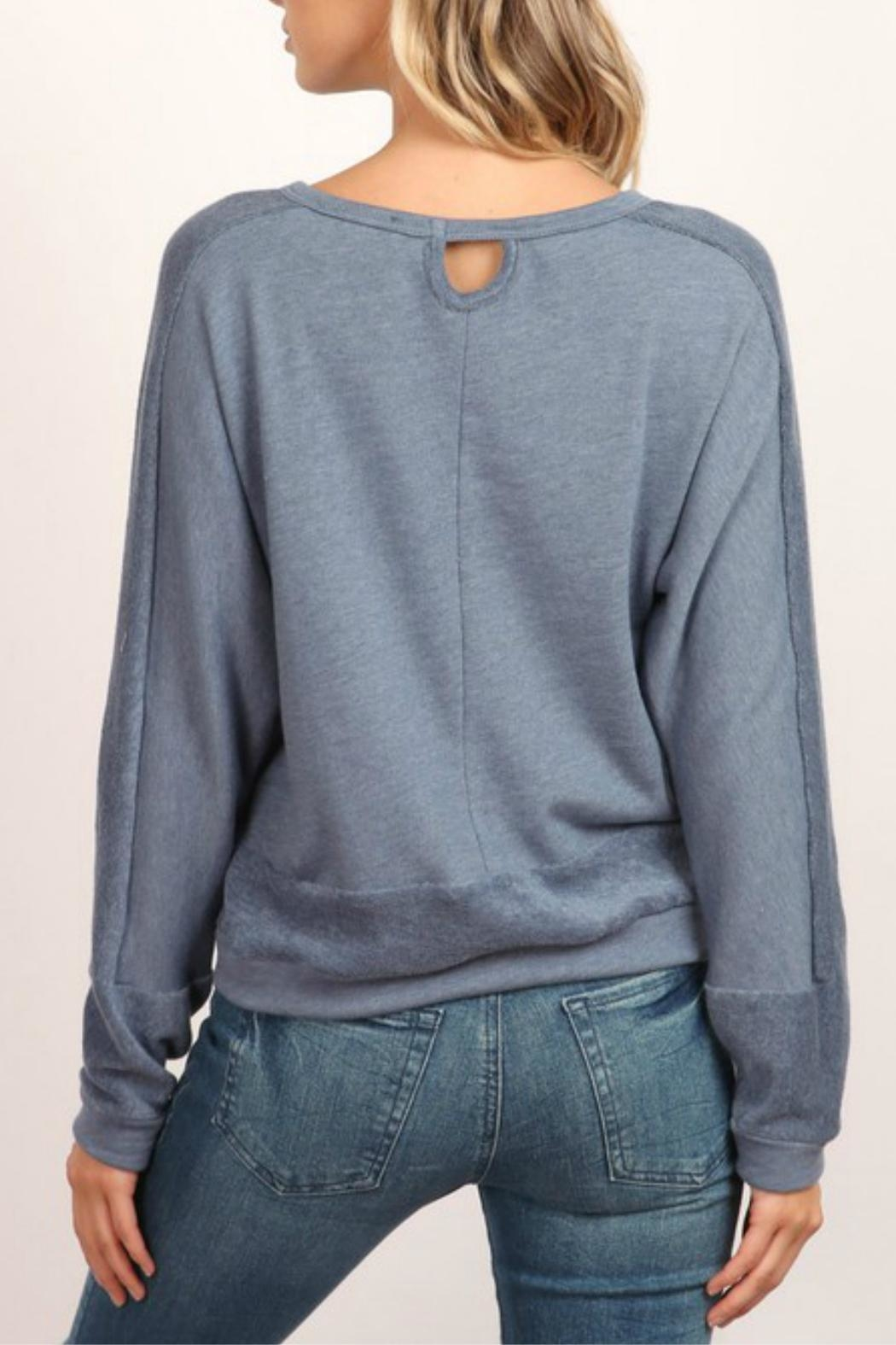 hummingbird Long-Sleeve Pullover Sweatshirt - Front Full Image