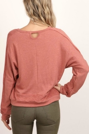 hummingbird Long-Sleeve Pullover Sweatshirt - Side cropped